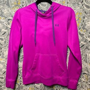 UNDER ARMOUR Womens XS Semi Fitted Purple Hoodie